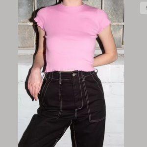 Brandy Melville bubblegum pink Wynn top